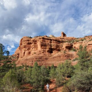 Our last day in Sedona was spent hiking the Boynton Canyon trail. 🥾 We really loved our time exploring this part of Arizona.   The red rocks set against the bright blue sky made for beautiful views everywhere we looked! 🏜️ 😍#VisitArizona